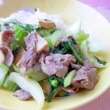 *豚肉とちんげん菜のマスタード炒め*