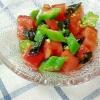 トマトとオクラの海苔わさび和え