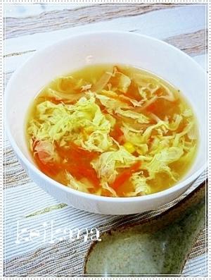 超簡単&時短☆子どもが喜ぶ♪フワッとたまごスープ♡