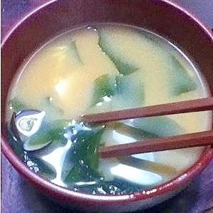ワカメとしじみと豆腐の味噌汁【ほっこり☆和食】