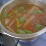 インスタントスープの素で鍋