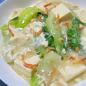 豆腐と青梗菜の卵白あん