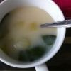ちんげん菜の洋風みそスープ