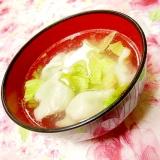 ウェイパーde❤水餃子とレタスのにんにくスープ❤