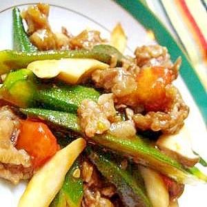 豚コマと野菜のドレ炒め