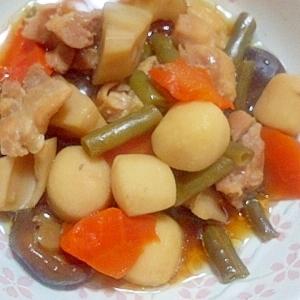 簡単 圧力鍋で鶏と根菜の煮物