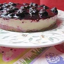 赤い★ブルーベーリーレアチーズケーキ