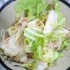 豆腐キャベツの蒸ポン酢炒め