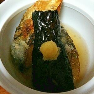 おだしでいただく鯖となすの揚げ物