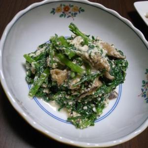 花椒がピリッと辛い!中華風春菊の白和え