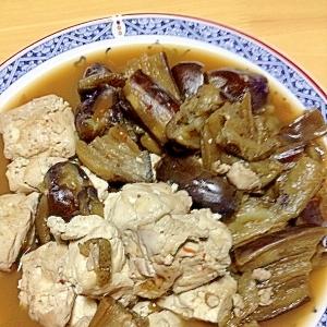 ピリッと辛い♪超カンタン!豆腐とナスの煮物☆