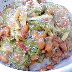 納豆の食べ方-めかぶ生姜♪