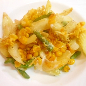 セロリと冷凍野菜のマヨソテー