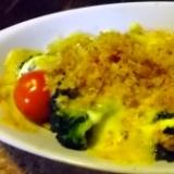 ブロッコリーとトマトの香草パン粉&チーズ焼き