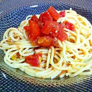 うますぎ!☆トマトとアンチョビの冷製パスタ☆