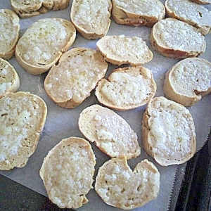 簡単!余ったパンでサクサクラスク♪