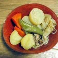 根菜類たっぷり煮物