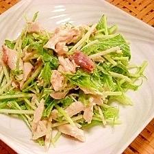 水菜の梅マヨサラダ