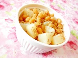 生姜ピリッ❤蒸し大豆と白蒟蒻の白だし生姜煮❤