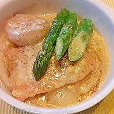 ホタテとサーモンのクリーム煮