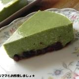 豆腐でヘルシー★簡単抹茶レアチーズケーキ