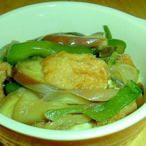 B級グルメの使い方  宮城の油麩と 茄子の炒め煮