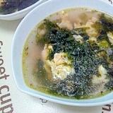 韓国海苔と卵☆スープ