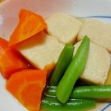 小鉢レシピ◇ひと口高野豆腐と人参の含め煮