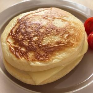 ハムチーズのホットケーキサンド