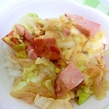 男飯!焼き豚と卵の炒め丼★