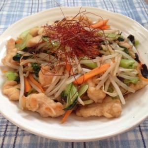 鶏とたっぷり野菜の中華炒め♪