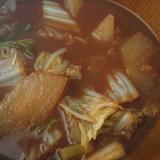 冬瓜と白菜のさっぱり味噌汁