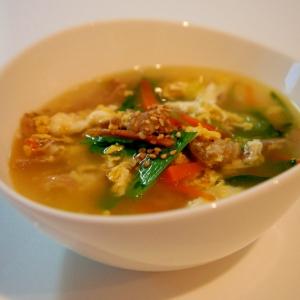 ねぎとカルビが香ばしいお手軽!ねぎ塩カルビスープ