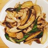 ご飯がすすむ! 豚肉となすの生姜焼き