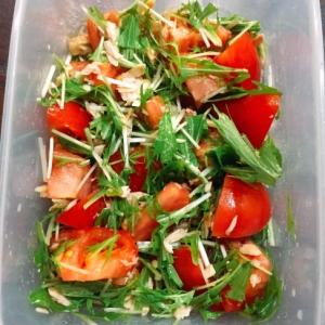 水菜とトマトのツナサラダ