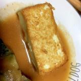 厚揚げのバターソテー