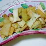 エリンギとじゃが芋のバター醤油炒め++