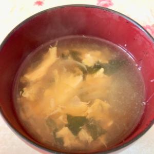 卵のワカメスープ