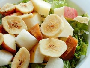5分!?+バナナ???フルーツサラダ♪(チップス)