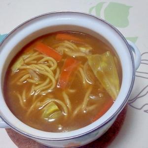 ゆで中華麺で!納豆カレーラーメン++