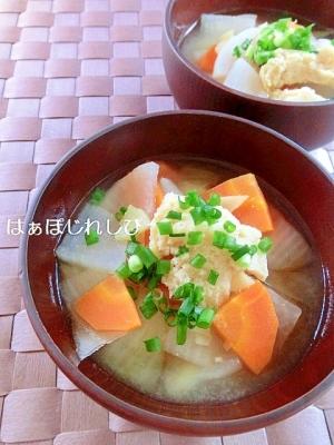 冷凍豆腐の豚汁風お味噌汁✿