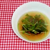 豆苗で和風スープ!