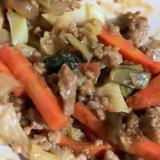 豚挽肉とお野菜の炒めもの
