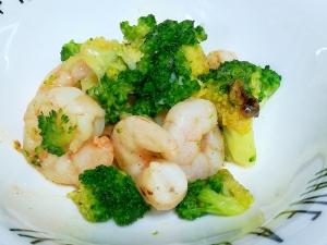 簡単小鉢☆海老とブロッコリーのにんにく炒め