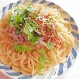 しらすと大葉と小海老の柚子こしょうスパゲティ
