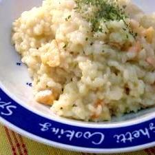 秋の味覚、米から炊く、簡単サーモンリゾット