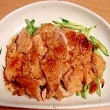 鶏胸肉であっさり照り焼き風と無駄なく鶏スープ