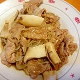 ダイエット中に☆豚とシラタキの炒め物