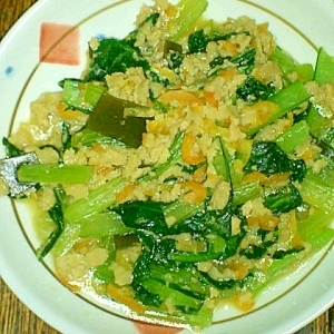 青菜とグルテン 塩麹炒め♪