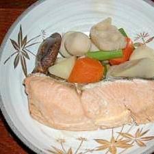 鮭と和風野菜の煮物